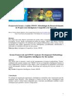 Framework Scrum e Análise SWOT Metodologia de Desenvolvimento de Projeto com Inteligência Competitiva de Mercado