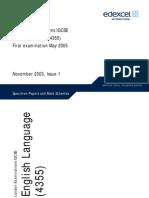 220375 UG013052 English Language 4355 Specimen Papers and Mark Schemes