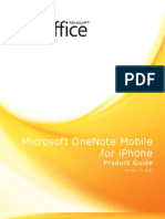 OneNote Mobile iPhone Product Guidev2