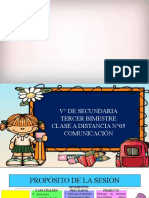 CLASE A DISTANCIA N°05 - COM - V° SEC - III BIMESTRE-PRADO