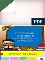 CLASE A DISTANCIA N°02 - COM - V° SEC-PRADO