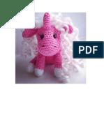 Patron crochet  miniunicornio rosado amigurumi