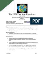 UT Dallas Syllabus for rhet1101.001.11s taught by Yolande Porter (yolande)