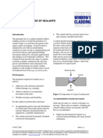 SELECTION AND USE OF SEALANTS