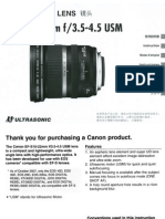 Canon EF-S 10-22mm f/3.5-4.5 USM lens manual