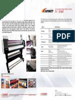 Brosur Mesin Digital Printing Indoor Ecosolvent merk INFINITI