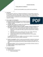 Indicaciones para el trabajo aplicado de estadística II