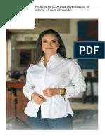 Carta pública de María Corina Machado al presidente interino, Juan Guaidó (+Documento) - Vente Venezuela