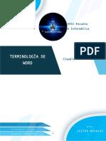 Investigación Terminología de Word