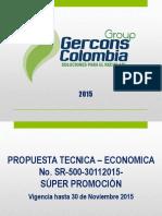 PROPUESTA TECNICA Y ECONOMICA SUPER PROMO FIN DE AÑO GGCSR 500KH