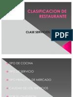 CLASIFICACION DE RESTAURANTE