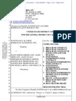 Lawsuit for plaintiff Santos Saúl Álvarez Barragán