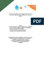 Plantilla Excel Evaluación del aspecto económico del proyecto sostenible
