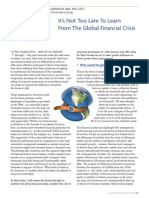 Anderson on the Global Financial Crisis - ICD Director (Nov 2010)