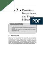 topik 7-demokrasi berpalimen dan proses pilihan raya