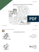 Fichas de Trabalho Para a Cigarra e a Formiga