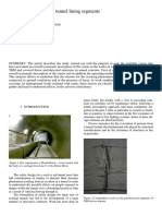 cracks in tunnel - analysis by french paper