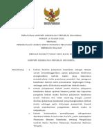 PMK No. 18 Th 2020 ttg Pengelolaan Limbah Medis FASYANKES Berbasis Wilayah