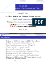 Analysis and design of control systems