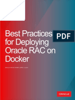 Best Practices for Deploying Oracle RAC on Docker