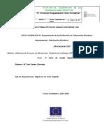 Programación DFC Definición de Procesos de Mecanizado, Conformado y Montaje.