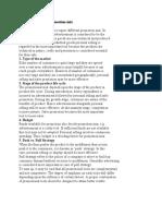 Factors governing Promotion