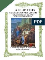 XV Domingo Después de Pentecostés. Guía de los fieles para la santa misa cantada. Kyrial Orbis Factor