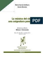 """Artículo-García Amilburu, M. y Morales, G. (2013). """"La música del cine, una asignatura pendiente"""" en Educación y Música, n.95, vol. 26, 3, pp. 88-98."""