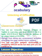 unlocking of word difficulties