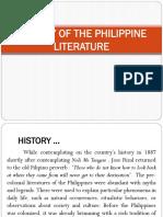 HISTORY OF PHILIPPINE LITERATURE