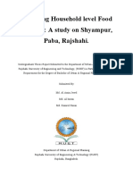 Exploring Household level Food Security A study on Shyampur, Paba, Rajshahi