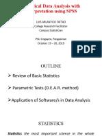 STATISTICS AND PARAMETRIC TESTS