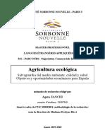 Agricultura ecológica Salvaguardia del medio ambiente, calidad y salud Objetivos y oportunidades económicas para España