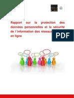 Rapport sur la protection des données personnelles et la sécurité de l´information des réseaux sociaux en ligne