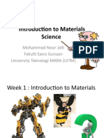 Note for Introduction to materials MST 510