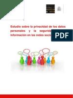 Estudio sobre la privacidad de los datos personales y la seguridad de la información en las redes sociales online
