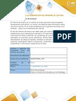 Formato para la elaboración de Informe de lectura 1-2020