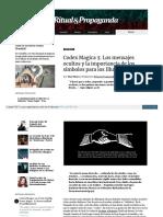CODEX MAGICA 3 - LOS MENSAJES OCULTOS Y LA IMPORTANCIA DE LOS SÍMBOLOS PARA LOS ILLUMINATI