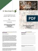 daniel fast prayer journal