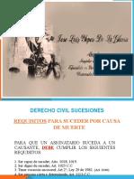 SUCESIONES REQUISITOS PARA SUCEDER POR CAUSA DE MUERTE (1)