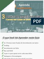 Aprenda Investimentos - 3 Formas Investir Acoes