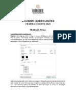 TRABAJOS FINALES Cambio climatico2020
