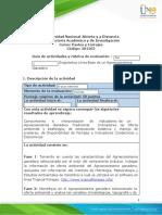 Guía de actividades y rúbrica de evaluación - Unidad 1 - Paso 2 - Diagnóstico Línea Base de un Agroecosistema Ganadero