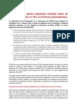 Reseña del Estudio sobre el grado de adaptación de las Pequeñas y Medianas Empresas españolas a la Ley Orgánica de Protección de Datos (LOPD) y el nuevo Reglamento de Desarrollo (RDLOPD)