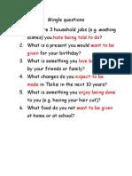 Passive questions + sport listening