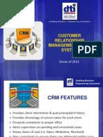 E.6 Customer Relationship Management (CRM) System