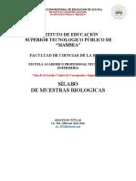 SILABUS DE MUESTRAS BIOLOGICAS