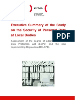 Executive Summary of the Study on the Security of Personal Data at Local Bodies
