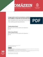 Comprensión oral de narraciones y producción, Crespo y Bustos