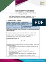 Guia de actividades y Rúbrica de evaluación-Paso  2 Actividad sobre distribuciones muestrales y estimación